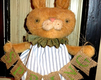 "Primitive ""Cinnamon Bunny"" Easter Doll by Prindle Mountain Primitives"