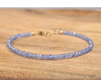 Tanzanite Bracelet, Tanzanite Jewelry, Gemstone Bracelet, Stacking, December Birthstone