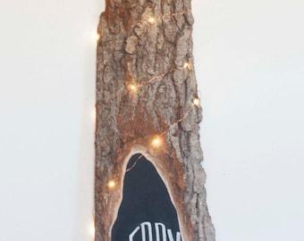 Wedding Chalkboard Wood Slab Sign No. 3 - Custom Text