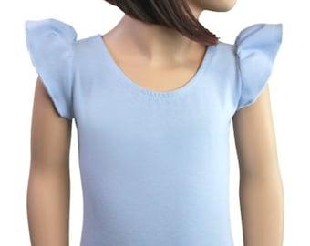 LT.BLUE (Child) FLUTTER Sleeve Leotard