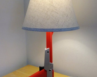 Zapper Gun Desk Lamp with Lamp Shade - Nintendo Zapper Orange