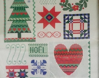 """Designs for the Needle Vintage """"Christmas Sampler"""" counted cross stitch kit"""