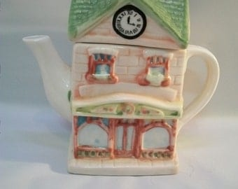 Vintage House Teapot, Cottage Teapot, Sweet Little Cottage Teapots, House Shaped Teapot, Collectible Teapot, Novelty Teapot, Novelty Gift