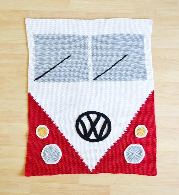 Crochet VW Bus Blanket Pattern