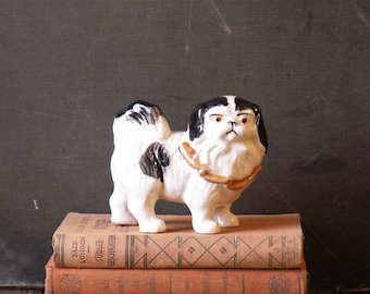 Vintage Pekingese Dog Porcelain Figurine - Perfect Gift for the Dog Lover!