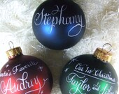 Custom order for jmagnew: Personalized Christmas red ball Ornament.