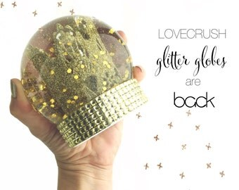 Love Crush|| Sienna Lace Crown Glitter Globe || Limited Edition