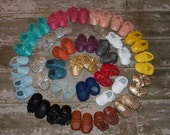 Read Description 100% genuine leather baby moccasins Mocs moccs