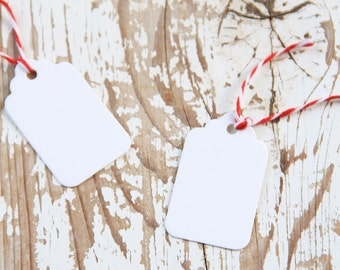 10 Tags Piccole Bianche - 10 Small White Gift Tags