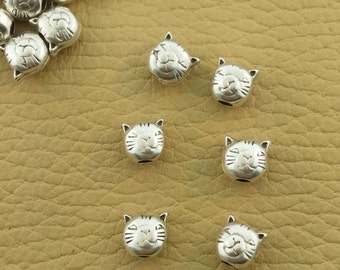 Silver Cat Beads