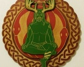Cernunnos - Horned God Pagan wall Plaque