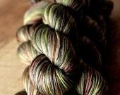 "Sock yarn - 50/50 SW Merino/Silk - Holiday - ""Ground Hog Day"""