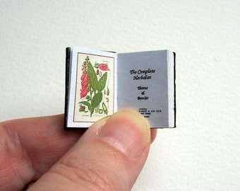 Dolls' House Miniature Book - The Compete Herbalist (leather bound)