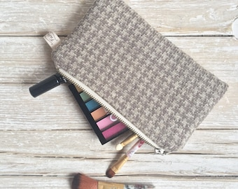 Pencil Holder Case, ZipperPouch, Cosmetic Bag, Jacquard Pencil Pouch, Zipper Pouch, Cosmetic Bag