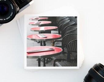 SALE, Paris Home Decor, Parisian Cafe, Travel Photography, Affordable Wall Art, Paris Print, Paris France, Home Decor, Red, Black, Wall Art