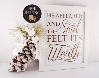 Wall Art - And the Soul Felt its Worth (White & Gold Collection) - Original Piece, Not a Printable