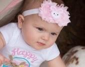 Easter Baby Girl, Easter Baby Headband. Newborn Easter Headband. Baby Easter Headband. Easter Bunny Baby Headband.