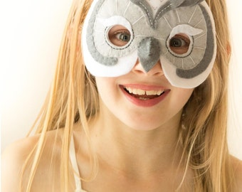 PDF PATTERN.  Kids Owl Mask/Costume.