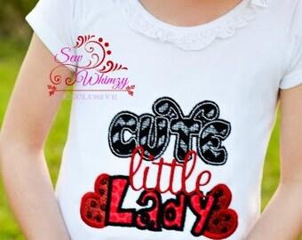Lady bug shirt- Girl lady bug shirt- Ladybug