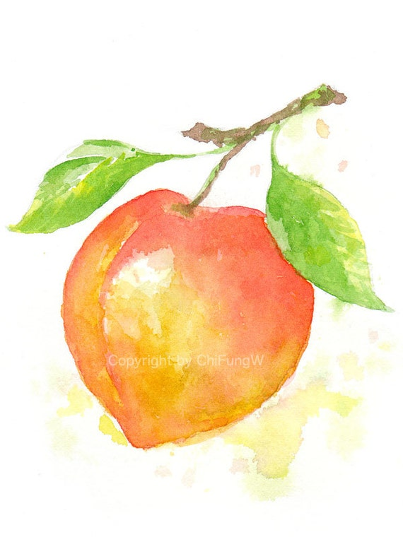 Watercolor Paintings Of Fruit Fruit fruit print gicl...