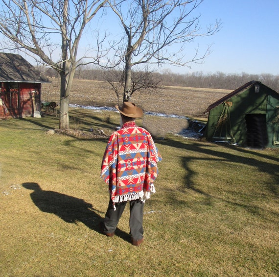 Clint Eastwood Style Poncho In Southwest By PaisleyPurveyorToo