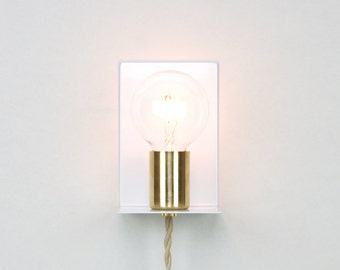 Plug-in Wall Sconce with Glass Jar