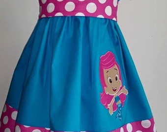 Bubble Guppies Inspired T-Shirt Dress