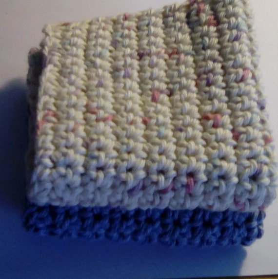Set of 2,  MADE TO ORDER Wash cloths or dish rags