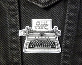 The Shining Brooch All Work And No Play Jack Torrance Shrink Plastic Hand-drawn