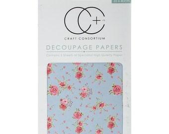 Antique Rose Decoupage Paper, Paper for Decoupage, Collage, Max Media, Ephemera, Craft Consortium Decoupage Papers