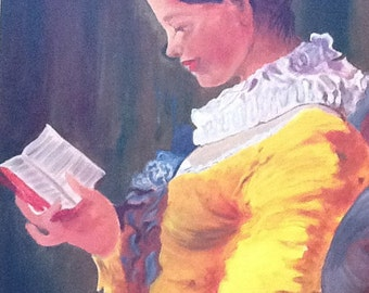 Lady with Book. 36 BY 40