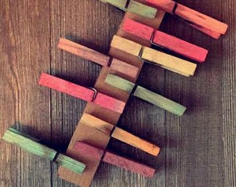 Dyed Assorted Clothespins - Set of 10
