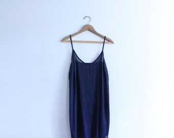 Minimal Navy Sheer Slip Dress