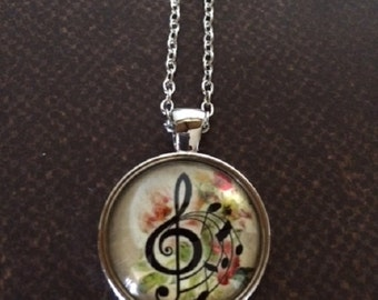 Music Teacher Gift - Music Gift - Music Jewelry - Music Necklace - Music Note Necklace - Music Note Jewelry - Treble Chef Necklace - Music