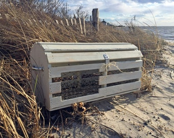 Reclaimed Wood Maine Lobster Trap Card Box | Custom Nautical Decoration for Wedding, Bridal Shower, Party, Home | Beach Rustic, HANDMADE