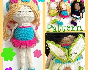 Crochet Fairy Doll Pattern by Tootylou