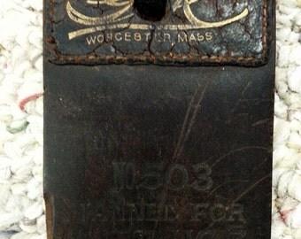 Antique Razor Strop G?K Worcester, Mass. No. 503 Tanned for Service Genuine Shell