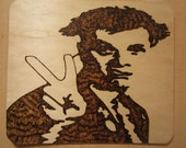 The Young Ones Rik Wooden Pyrography Plaque
