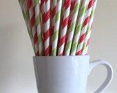 Christmas Paper Straws Party Supplies Party Decor Bar Cart Accessories Cake Pop Sticks Mason Jar Straws