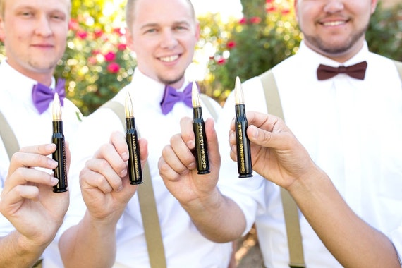 5 Engraved Black Groomsmen Gifts .50 Cal Personalized Bottle Openers. Groom Gift. Father of the Bride Gift. Groomsman Gift
