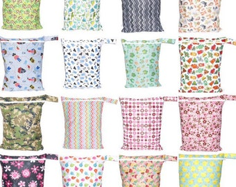 WET BAG SALE!!! Wet bag for Cloth diaper & ect. -Waterproof, Washable, Reusable.