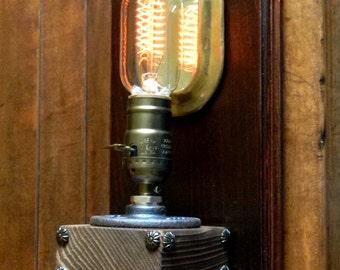 Amazing Custom Wall Mounted Steampunk Lamp - Curiosity Shopper Crew Original Wall Sconce Steampunk Lighting - Easy to Mount Steampunk Light