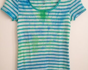 Grunge Tie Dye Stripey Tshirt