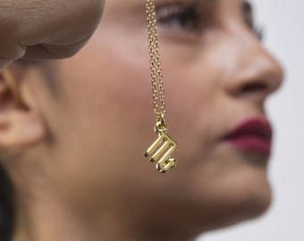 SOLID GOLD Zodiac necklace,  Solid gold zodiac symbols,  Rose gold zodiac, Birthday gift, Gold zodiac charms, Zodiac gift