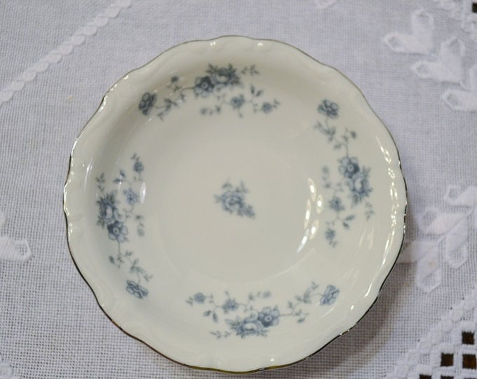 Vintage Haviland Blue Garland Berry Fruit Bowl Bavaria White Blue Floral Replacement PanchosPorch