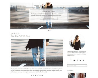 Modern WordPress Theme | Black and White Theme | WordPress Fashion Blog Design | Mobile Responsive Theme | Genesis | Instant Download