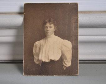 Cabinet Card Vintage Photo Portrait Woman