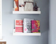 Book Ledge Shelf, children's room, book shelf, book corner, white shelf, small space, reading corner, kids room, book ledge, gift idea