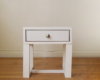 Pair of thin side tables end tables nightstands by owldesigned for Thin side table