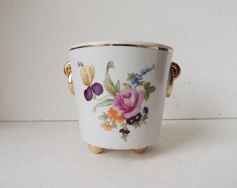 Porcelain Cachepot Planter Metzler & Ortloff